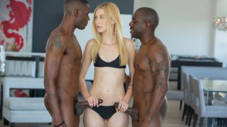 Alexa Grace – Shy Blond Girlfriend First Threesome With Black Men
