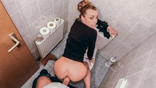 PublicAgent – Angel Emily (Multiple orgasms in public toilet)