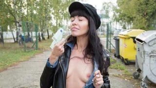 PublicAgent Sasha Colibri (Mouthful of cum for sexy brunette)