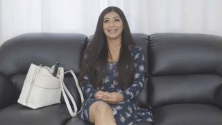Casting Couch with hot Leya