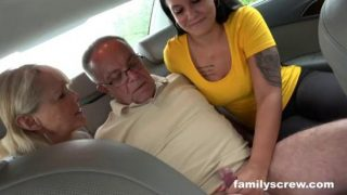 FamilyScrew – Picking Up Mom And Her Daughter