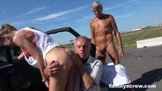 FamilyScrew – Street Prostitute Fucking With Son Grandpa And Uncle