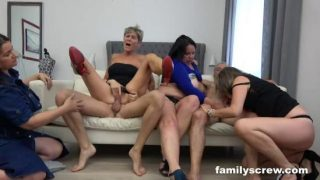 HD FamilyScrew.com – A Sunday Orgy With Grandpa And Grandson – FamilyScrew